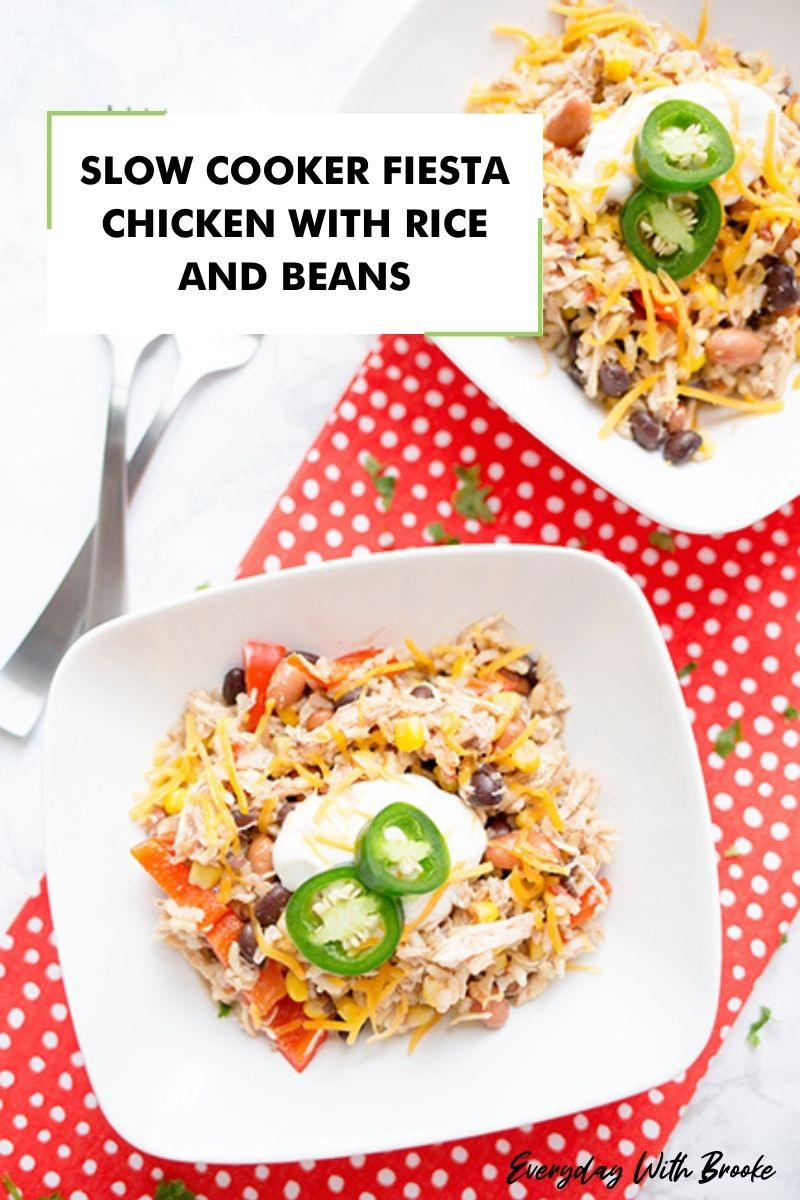 Slow Cooker Fiesta Chicken with Rice and Beans