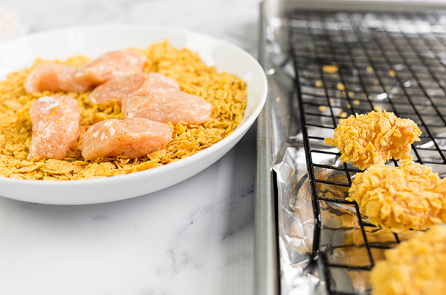 Breading Chicken