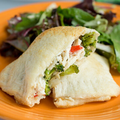 Chicken and Cheese Calzone