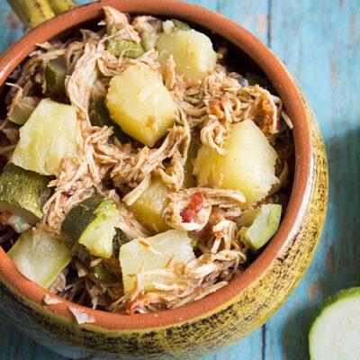3 Ingredient Slow Cooker Pineapple Salsa Chicken