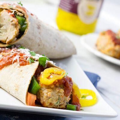 Easy Italian Meatball Wraps