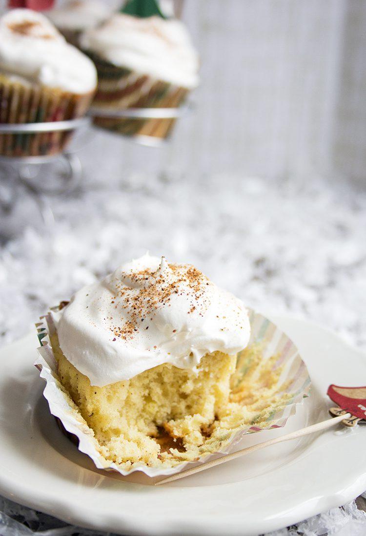Light Eggnog Cupcakes