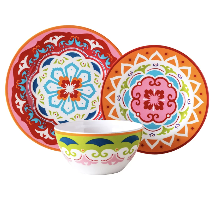plates colorful