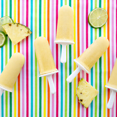 Tropical Fruit Filled Healthy Popsicles