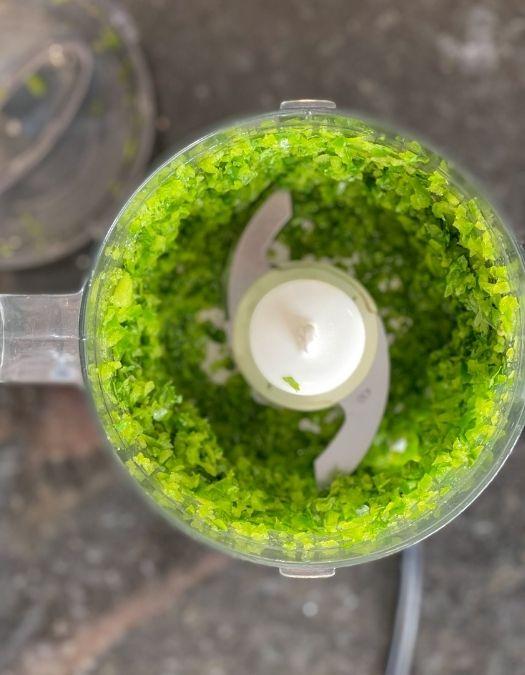 jalapenos and cilantro food processor