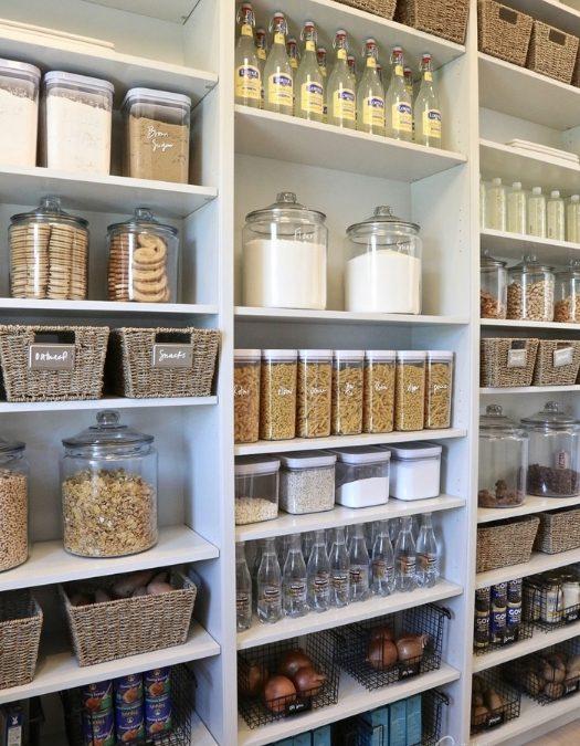 beautiful pantry with perfect organization