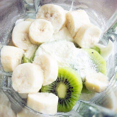 Banana Kiwi Protein Shake