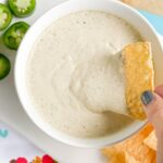chuy's jalapeno ranch dip made with hidden valley