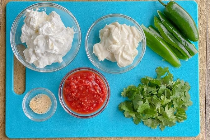 ingredients to make chuys jalapeno ranch dip hidden valley