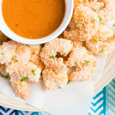 Crispy Oven Baked Shrimp with Cocktail Sauce Recipe