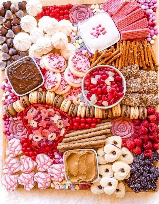 valentine's day snack boards