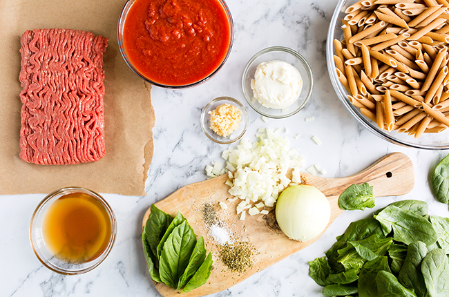 Skillet Lasagna Ingredients