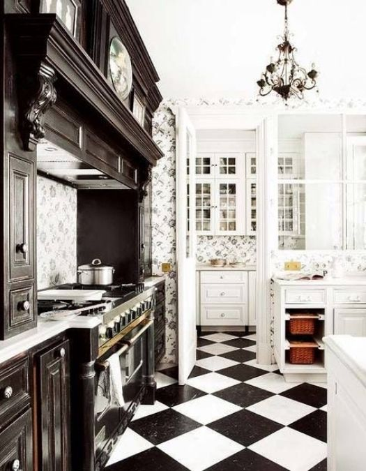 black and white checkered floors