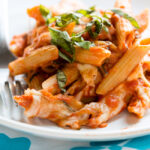 Light and Easy Creamy Tomato Pasta Bake